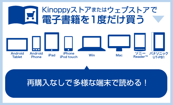再購入なして多様な端末で読めるKinoppyの電子書籍